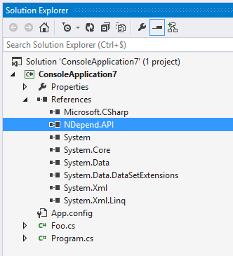 ndepend coderuleattribute defined in the assembly ndepend.api.dll