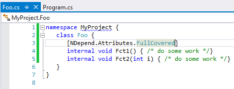 fullcoveredattribute to explicitly declare that a code element must be 100% covered by tests