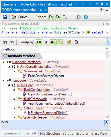 ndepend cqlinq csharp linq code query edition