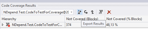 export visual studio coverage from xml to binary format