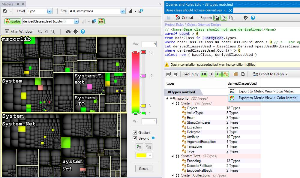 ndepend code metric view pinpoint flaws