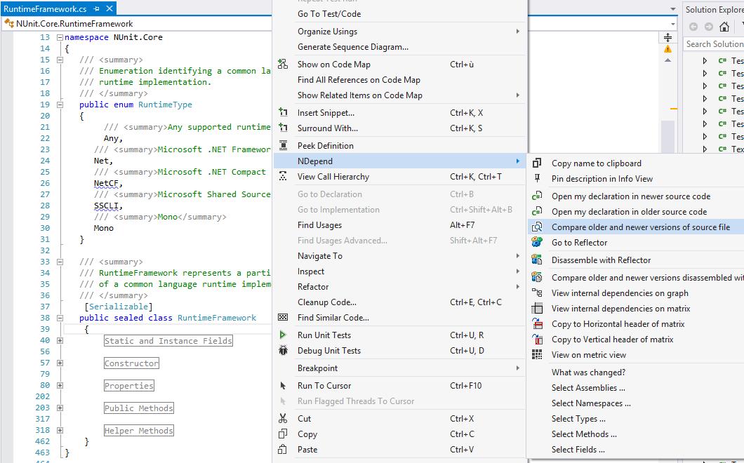 Advanced Code Diff in Visual Studio