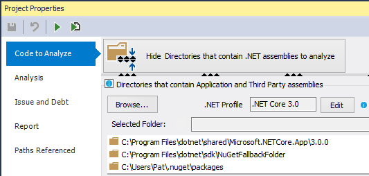 ndepend dotnet core 3 support