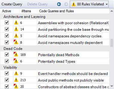 NDepend Code Rules Exploration